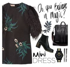 """Long sleeves Mini Dress"" by groove-muffin ❤ liked on Polyvore featuring Marni, Torrid, Miu Miu and Movado"