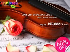 Join Our Orchestra Class And Raise Up Your Talent In Music. Guitar, Piano, Cello, Bass, Violin, Etc Are Welcome. Every Thursday 6pm - 7 Pm For 1 Month Only Idr 150,000,- / Month. 60% Discount Only At www.roripon.com