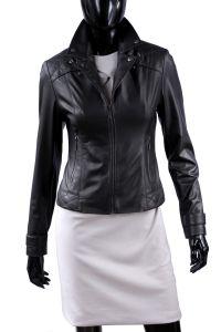 Kurtka Skórzana Pikowana Damska DORJAN ANI450 Lambskin Leather Jacket, Biker Leather, Leather Jackets, Custom Made, Brand New, Elegant, Black, Tops, Motorcycle
