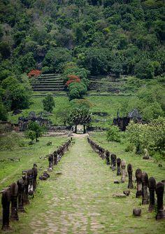 Wat Phou, Ancient Khmer Hindu Temple in Champasak, Laos