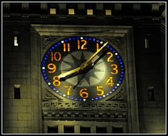 Custom House Tower Clock / Close-Up (2 of 2) by Tony Fischer Photography, via Flickr