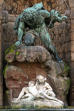 Medici Fountain in the Jardin du Luxembourg, Paris. So fascinating and creepy.