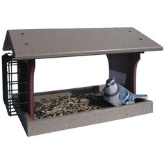 Amish Poly Single Suet Environmentally Friendly Bird Feeder (€50) ❤ liked on Polyvore featuring home, outdoors, outdoor decor, outdoor garden decor, outdoor bird feeders, cardinal bird feeder, seed feeder and outdoor patio decor