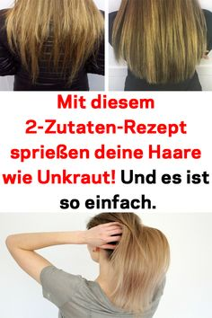 With this recipe your hair sprouts like weeds . Und es ist so ein… Your hair sprouts like weeds with this recipe! And it& that easy. Castor Oil Hair Treatment, Castor Oil For Hair, Hair Loss Treatment, Prevent Grey Hair, Hair Boost, 2 Ingredient Recipes, How To Grow Eyelashes, Grow Long Hair, Unwanted Hair