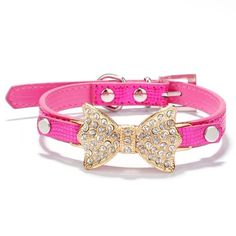 365mx®Puppy Dog Collar Crystal Bling Rhinestone Bow Knot Pet Collar All Seasons Choker Cat Necklace -- Discover this special cat product, click the image : Cat Collar, Harness and Leash
