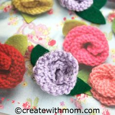 Create With Mom: Knitted Rose