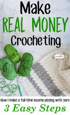 Make Real Money Crocheting in 3 Easy Steps | Tips from a Professional Crocheter | Free Tutorial from Sewrella