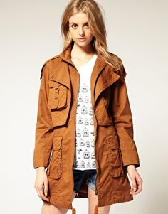 ASOS Cotton Twill Shirt Parka -- On Sale for $71.88