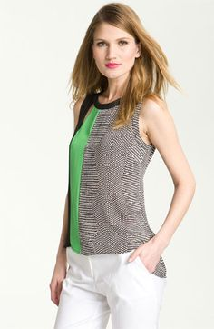 BCBGMAXAZRIA 'Elicia' Colorblock Cutout Tank available at #Nordstrom