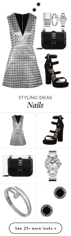 """""""Untitled #324"""" by hayleyl22 on Polyvore featuring Alice + Olivia, Marc Jacobs, Valentino, Stuart Weitzman, Nails Inc., Cartier and Chopard"""