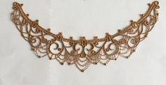 Dunkle Gold Venedig Lace Fixierhilfe schöne Halskette von lacediy
