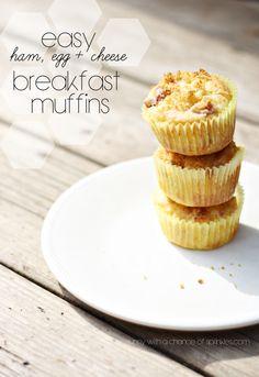 Ham, Egg, and Cheese Breakfast Muffins #breakfast #muffins #ham #egg #cheese #Easter #brunch #FreshTake #shop