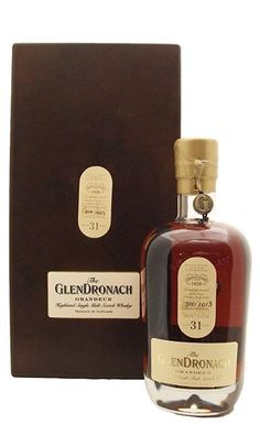 Nice glass foot, shoulders, understated label and taper on this The Glendronach bottle.