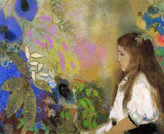 Odilon Redon「Portrait of Yseult Fayet」(1908)