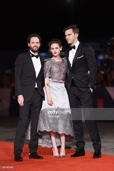 Drake Doremus, Nicholas Hoult and Kristen Stewart attend the premiere of 'Equals' during the 72nd Venice Film Festival at the Sala Grande on September 5, 2015 in Venice, Italy.