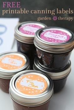 Free Printable Canning Labels for jams and preserves - cute berry design in 3 colors Canning Labels, Jar Labels, Canning Jars, Canning Recipes, Mason Jars, Printable Labels, Printable Paper, Free Printables, Canning Food Preservation