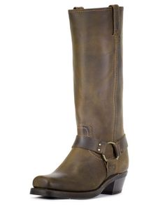 Straps & Studs... The Perfect Harness Boot | http://www.countryoutfitter.com/products/32603-womens-crazy-horse-harness-15r-boot-tan