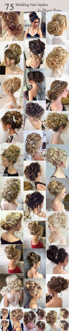 75 Chic Wedding Hair Updos for Elegant Brides Half-updo, Braids, Chongos Updo Wedding Hairstyles / www.deerpearlflow… The post 75 Chic Wedding Hair Updos for Elegant Brides appeared first on Do It Yourself Fashion. Wedding Hair And Makeup, Wedding Updo, Bridal Hair, Hair Makeup, Wedding Nails, Elegant Wedding, Wedding Bridesmaids, Trendy Wedding, Prom Hair Updo Elegant