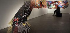 Detail of installation art by Peter Gerakaris