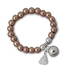 Von Treskow rose gold ball bracelet with sterling ailver harmony ball Cross Jewelry, Silver Jewelry, Selling Jewelry, Pearl Earrings, Rose Gold, Charmed, Sterling Silver, Bracelets, Jewellery