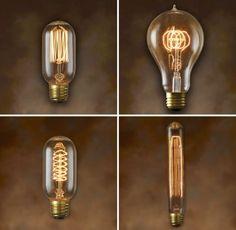A empresa Bulbrite, de New Jersey, produziu uma linha nostálgica de produtos que incluem a espiral, o gancho e o fio das lâmpadas. As peças são baseadas em lâmpadas incandescentes com filamentos intricados e steeple definidos.