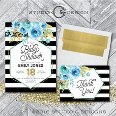 Kate Spade Baby Shower Invitations