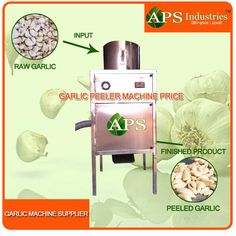 Completely automatic dry garlic cloves operation.Works on compressed air, Energy saving unit.High production efficient.Automatic temperature control and in feed device.Can peel different size of garlic, clove and membrane separated.Cloves are not damaged and will have long preservation for garlic.Production output according to various parameters like breed, season and nature of garlic. Capacity: 50 kg per hour/100 kg per hour/150 kg per hour Note: More capacity is available.