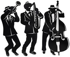 Jazz Trio Silhouettes for sale online Great Gatsby Party Decorations, Classic Jazz, Cross Stitch Pictures, Silhouette S, Animal Decor, Jazz Music, Easy Drawings, Best Part Of Me, The Little Mermaid