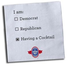 Election Party Idea- Cocktail Party