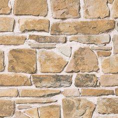 Papel pintado imitación piedra marrón claro PDD521265606 imágenes