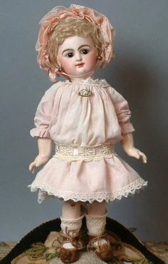 "Rare All Original Petite 11"" Rabery & Delphieu 'Block Mark' Closed Mouth Bebe c1883"