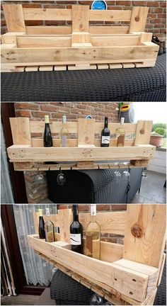 In order to add up your house garden location with the fantastic surroundings, make an eye-catching wine shelf as the part of it. You would probably be finding this wood pallet wine shelf design as much inexpensive in rates and easy to build out. It do involve small sections which can drastically be used as to place the wine bottles.