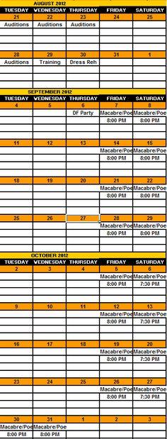 2012 Calendar Season Calendar, 2012 Calendar, Best Haunted Houses, Haunted Attractions, Macabre, Beast, Cinema, Movies, Movie Theater