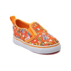 Shop for Toddler Vans Slip-On DJ Lance Skate Shoe in Orange at Journeys Kidz. Shop today for the hottest brands in mens shoes and womens shoes at JourneysKidz.com.No one can lead the gang like DJ Lance Rock! DJ Lance edition Vans Slip-On featuring allover boom box and Lance Rock graphics! Padded collar and durable rubber sole with waffle tread. Available only online at JourneysKidz.com! Available for shipment in October; pre-order yours today!