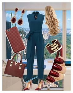 """""""Lets make a deal"""" by boopreski ❤ liked on Polyvore featuring TIBI, Christian Louboutin, Gucci, Kenneth Jay Lane, David Webb, Effy Jewelry, women's clothing, women's fashion, women and female"""