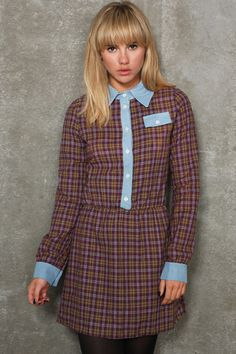 Renewal - Robe chemise à carreaux écossais