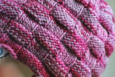 Balls to the Walls Knits: Beauty of a Basketweave Hat