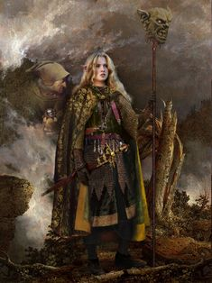The Realistic Celtic Art work and illustrations of Celtic myth & legend by Howard David Johnson Women are often very brave warriors in northern myths Fantasy Warrior, Fantasy Kunst, Fantasy Art, Dark Fantasy, Character Portraits, Character Art, Fantasy Characters, Female Characters, Weiblicher Elf