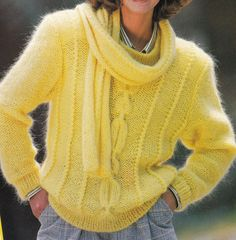 Vintage Knitting Pattern Instructions to Make a Ladies Jumper Sweater by LucysPatternBox on Etsy