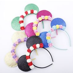 AliExpress.com Product - Cute mouse Ears Hair Bands Hoop rose flower Hairband Headbands Girls Hair Ornament Headdress Fashion Hair Accessories For Women