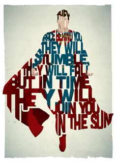 Superman http://www.designfaves.com/2013/12/famous-movie-characters-memorable-quotes