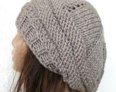 Sombrero sombrero invierno slouchy Slouchy Beanie mujer por Ebruk