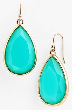 Kate Spade turquoise earrings.
