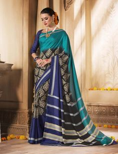 Beautiful Multi color Khadi Silk Saree with matching Blouse Summer Offer  | eBay