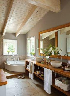 Awesome Idée Décoration Salle De Bain Miroir De Salle De Bains - Idee deco salle de bain