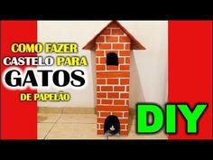★ Como fazer um CASTELO de GATO com papelão  ♥ Artesanato, presente, art...