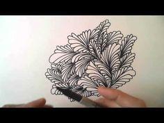 Freehand Space-filling Patterns 4: A Dense Leaf Design - YouTube