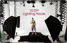 Can't afford lighting gear for your photography? Here's some great DIY projects to help you out.