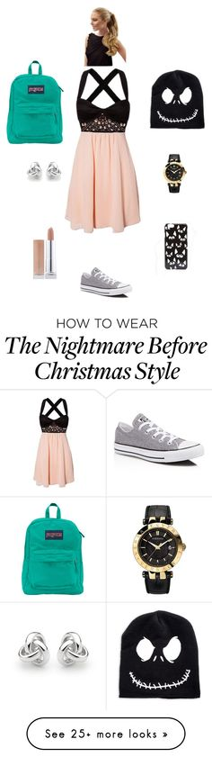 """K M M G"" by queen-kaitlyn on Polyvore featuring moda, Converse, JanSport, Georgini, Versace y ASOS"