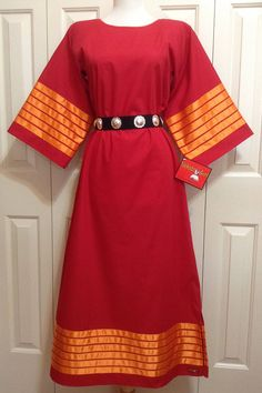 Native American Regalia Nakoda Made Pow Wow RED Ribbon Dress T Dress, Dress For You, Fancy Dress, Native American Clothing, Native American Regalia, Sewing Ideas, Sewing Projects, Sewing Patterns, Ribbon Work
